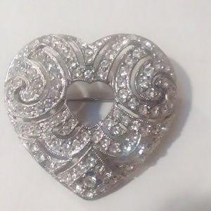 Avon heart shaped brooch